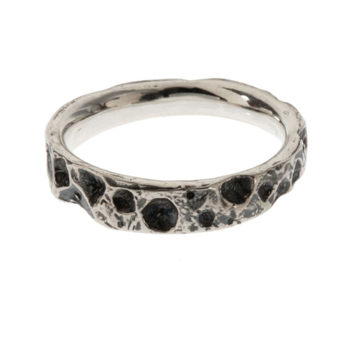 Cratered Surface Ring- Tapered