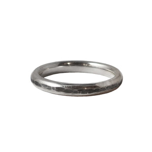 Hammered and Smooth Texture Ring (thin)