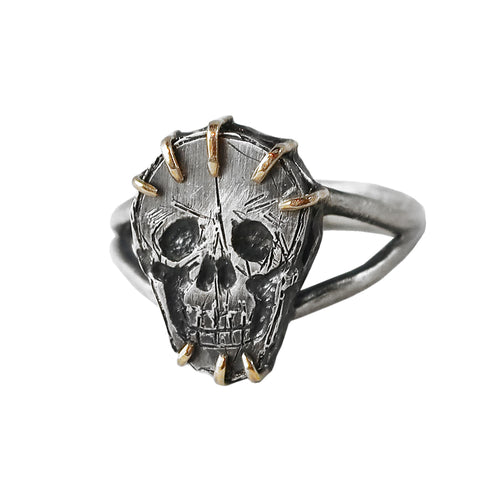 Skull and Claw Ring