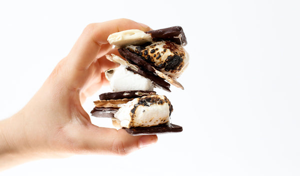 Black and White Matzah S'mores