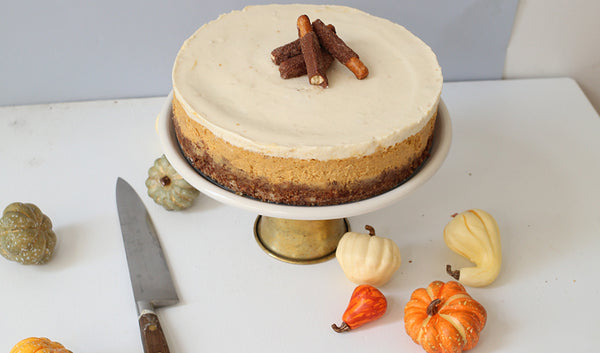 Pretzel Crusted Pumpkin Cheesecake