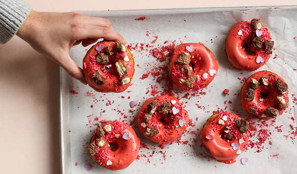 Valentine's Day Baked Red Donuts
