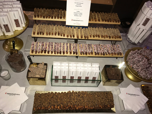 CNBC event with Fatty Sundays chocolate covered pretzels