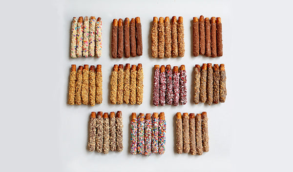 Chocolate covered pretzels assorted flavors