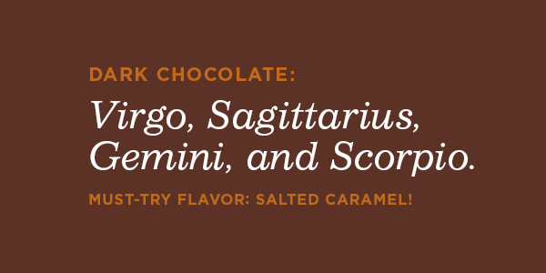 Dark chocolate astrology signs