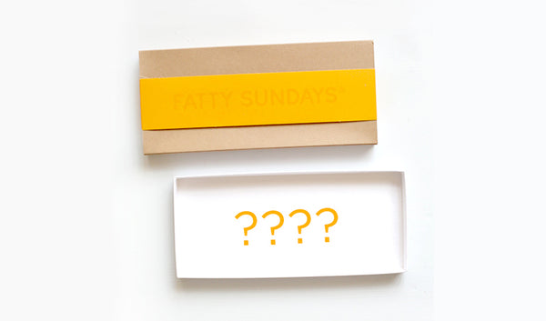 Yellow and kraft gift box with blank inside