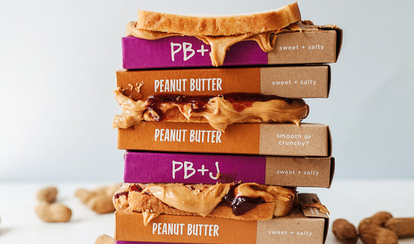 PB+J And Peanut Butter Chocolate Covered Pretzels With PB+J Sandwiches