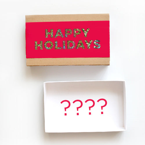 Create Your Own Happy Holidays Gift Box