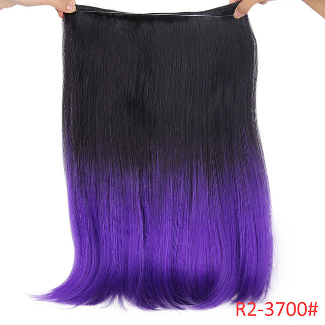 Long Synthetic Hair Heat Resistant Hairpiece Fish Line Straight Hair