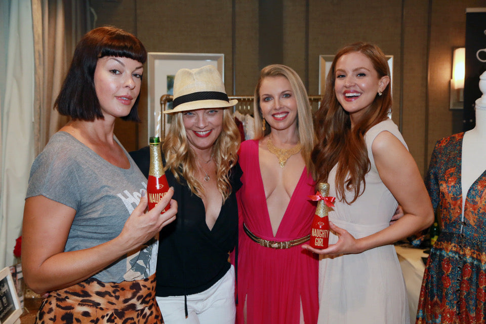 "Pollyanna McIntosh, Sabrina Gennarino and Maggie Geha ""The Walking Dead"" Emmys Naughty Girl Shop"