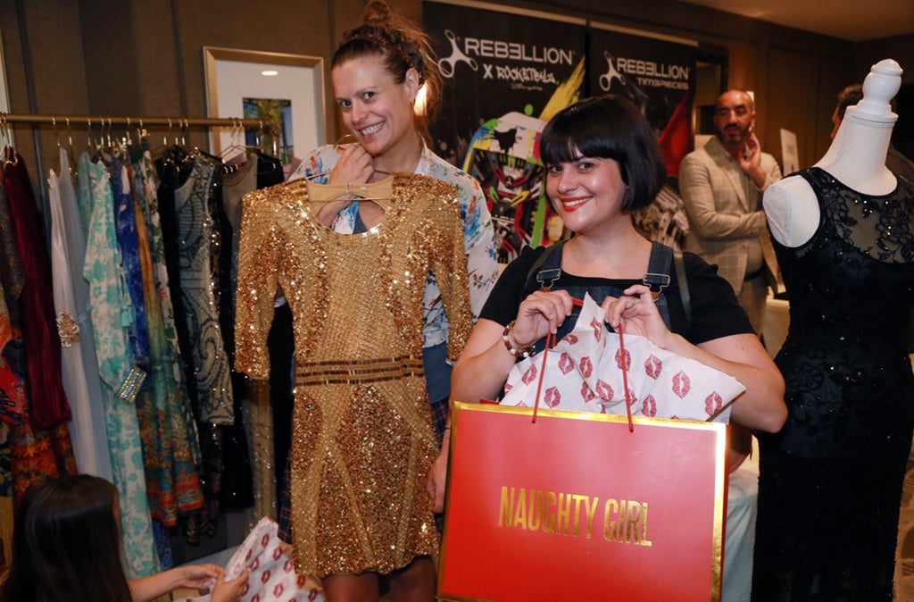 Marianna Palka and Rebekka Johnson Glow Emmys Naughty Girl Shop