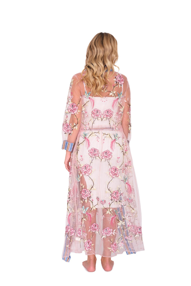 Floral Sheer Coverup Duster