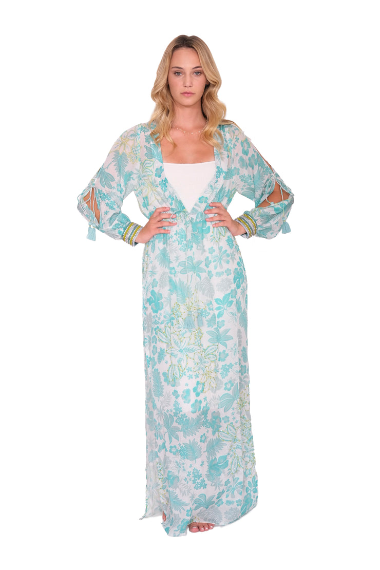 Taj Maxi Cover Up with Tassels
