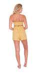 Yellow High Waist Shorts