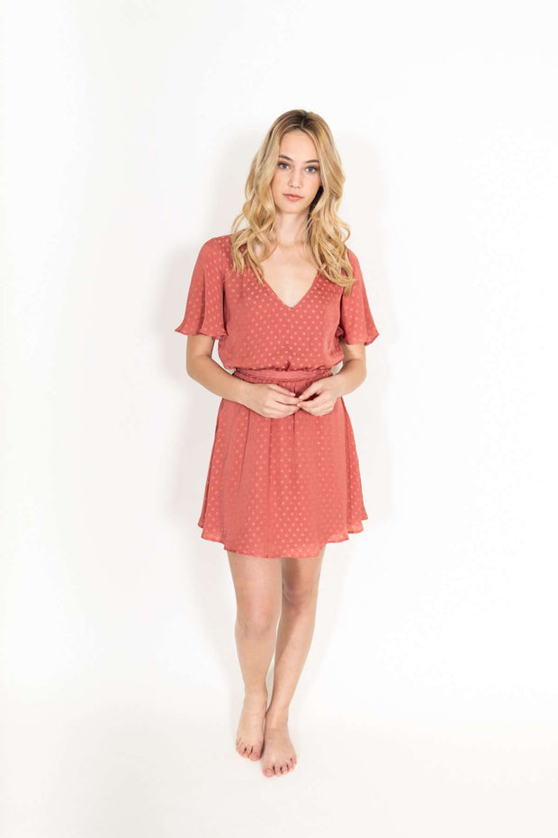 Anastasia Silk Polka Dot Dress