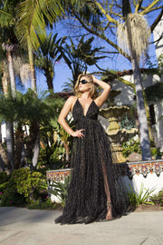 Black Gold Sparkle Dress