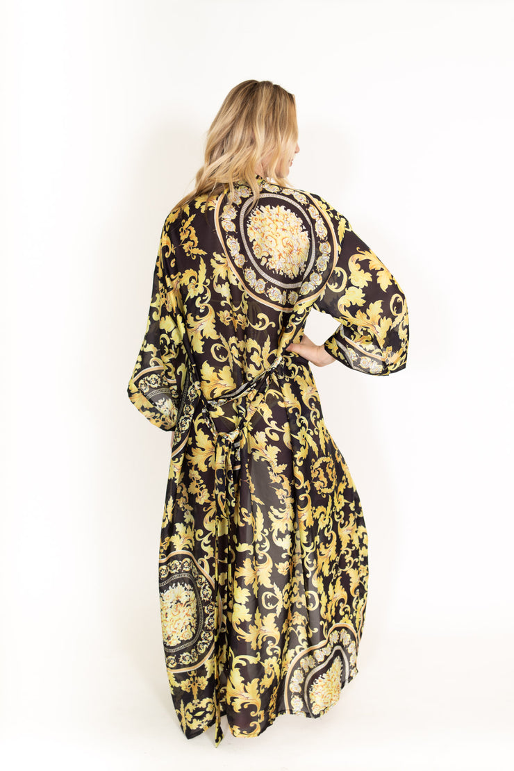 Black Gold Sheer Robe