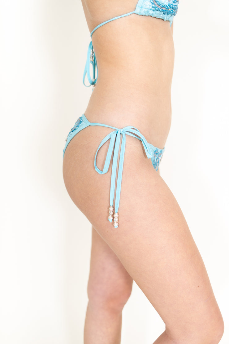 Light Blue Hand Painted Bikini Top