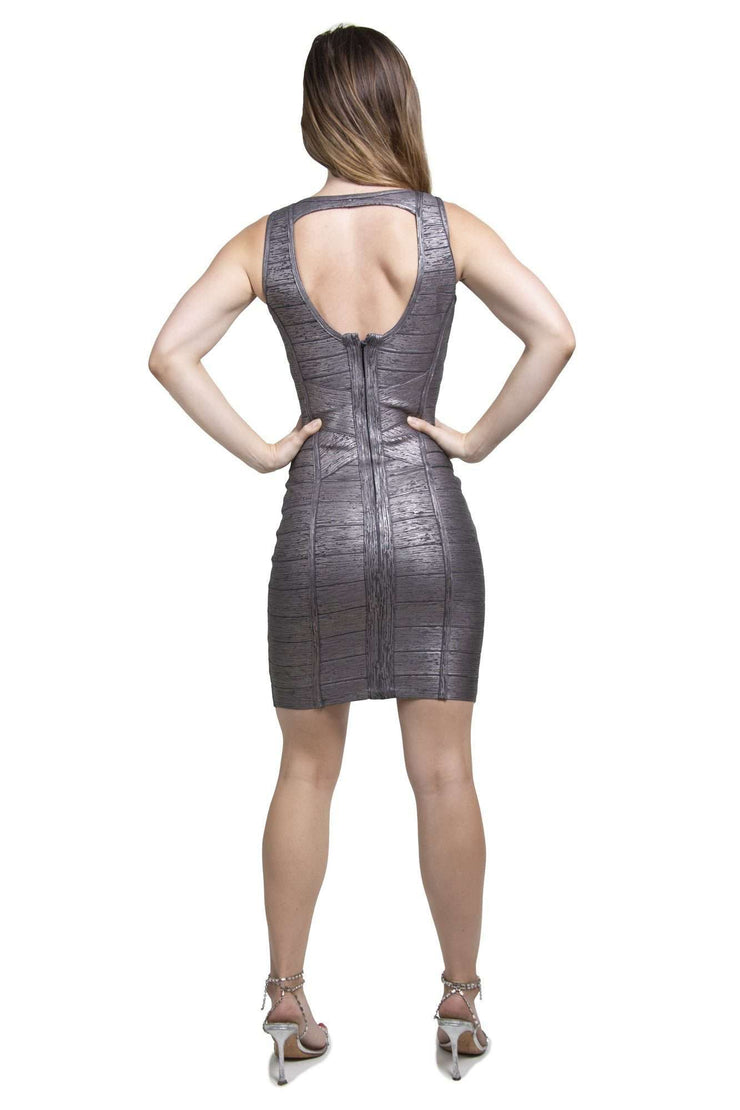 Bandage Grey Shimmer Dress
