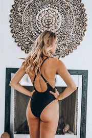 One Piece Swimsuit Black/Gold