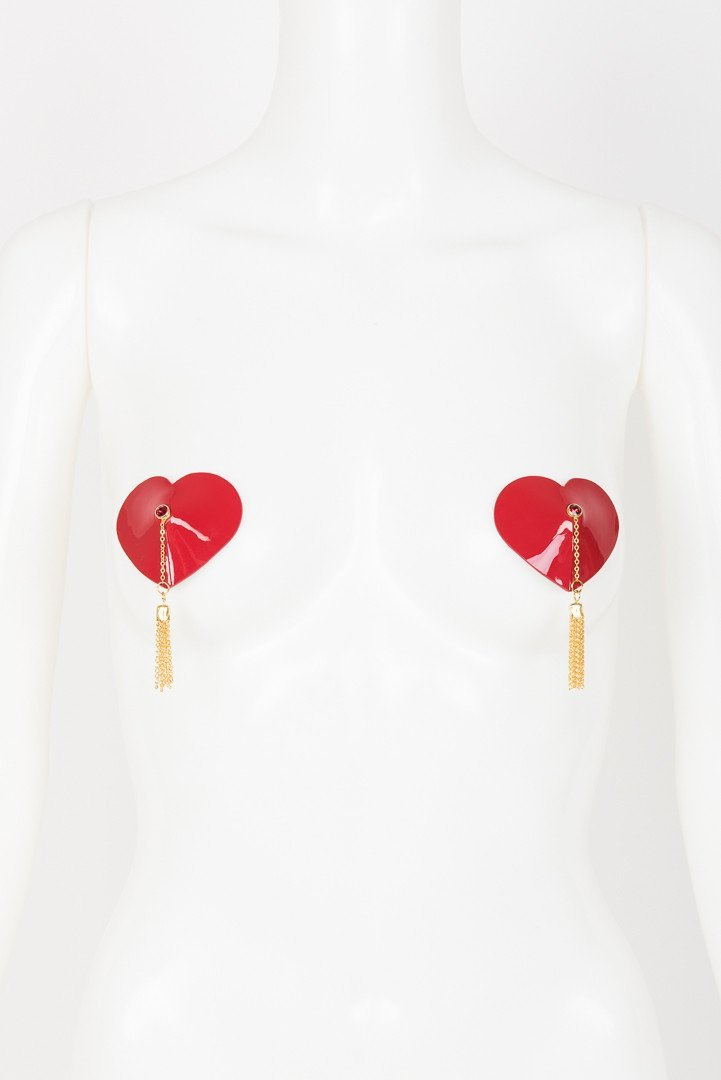 Red Heart Tassel Pasties