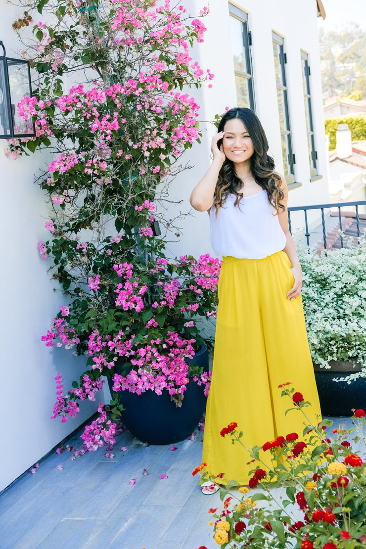 Lemon Yellow Palazzo Pants