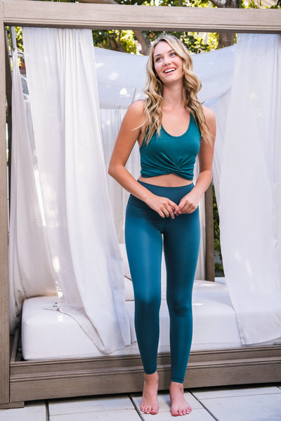 Evergreen Twist Cropped Tank