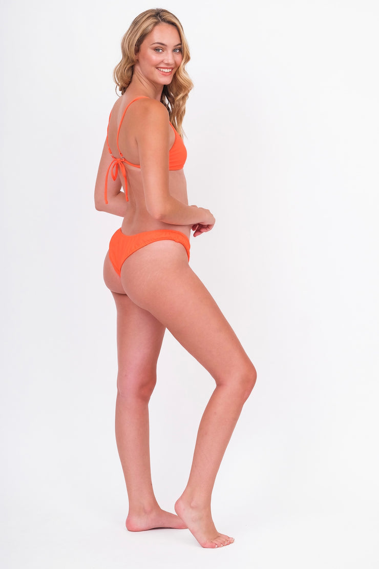 Neon Orange Bikini Bottoms