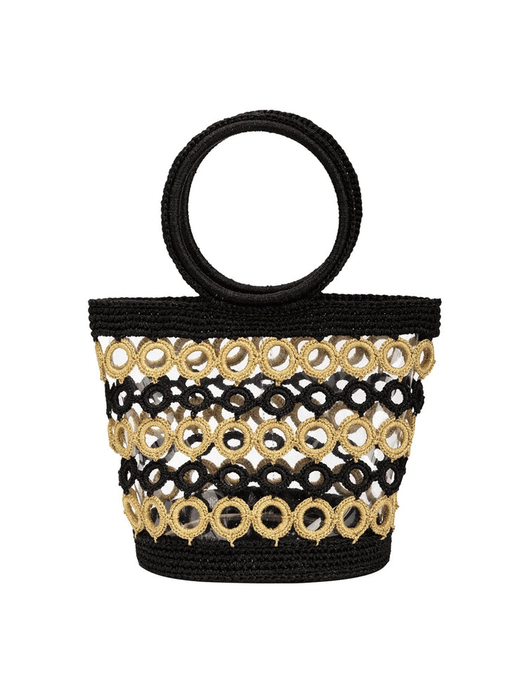 Black & Gold Crochet Purse