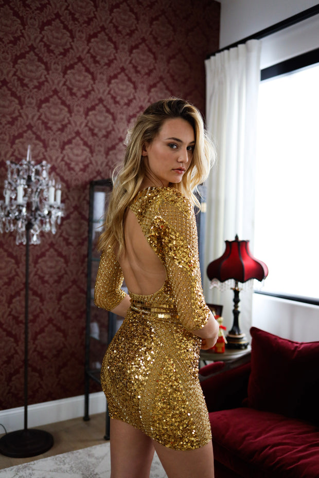 Sequin Gold Dress