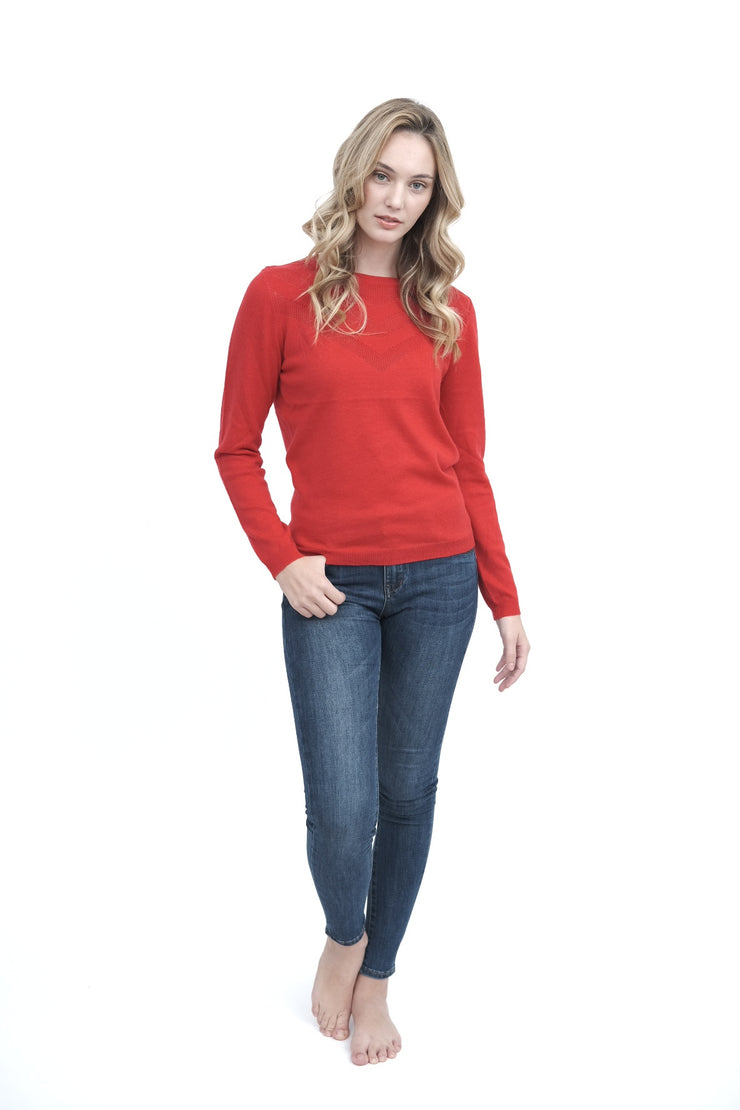 Red Woolen Sweater