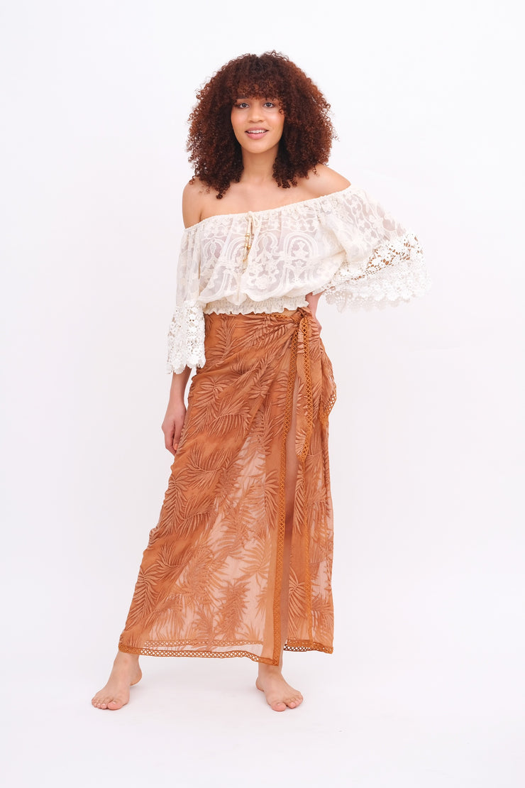 Copper Palm Leaf Sarong