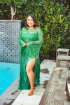 Emerald Lace Sarong Skirt