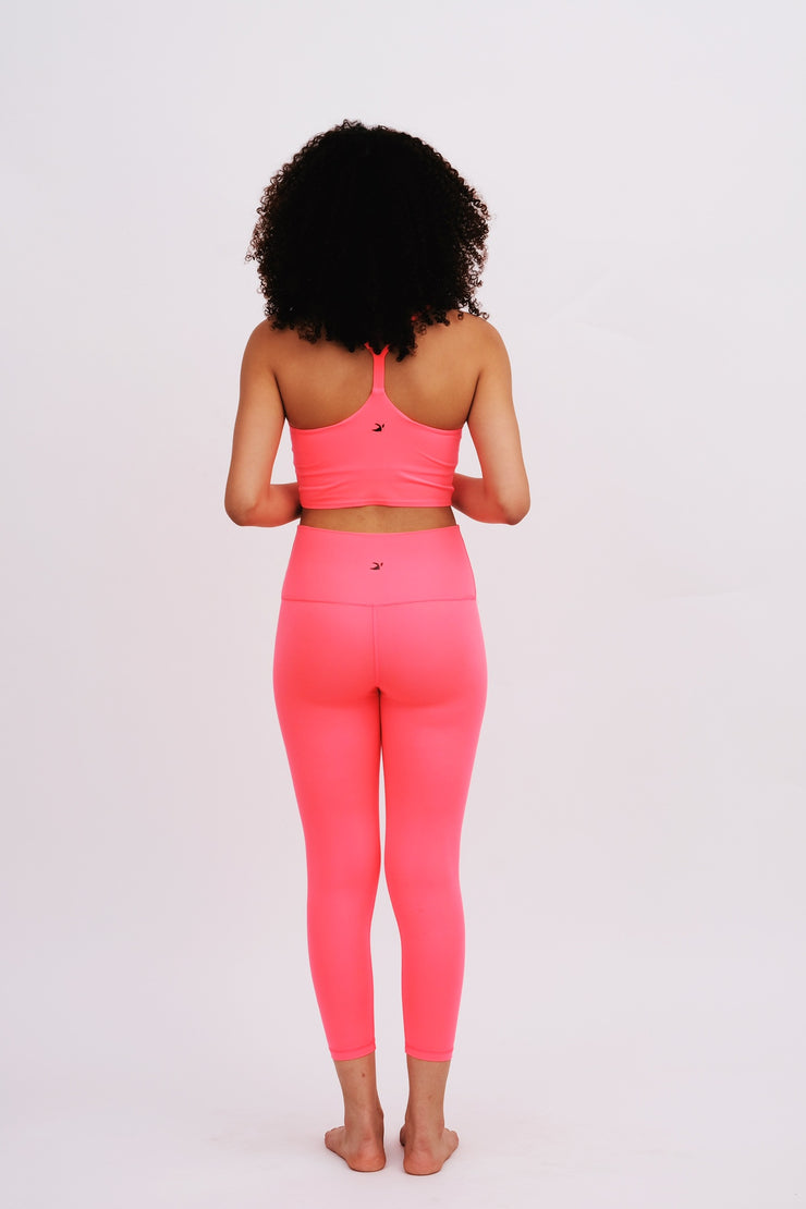 Hot Coral Yoga Bottoms