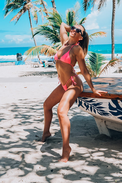 Hot Pink String Bikini Bottoms
