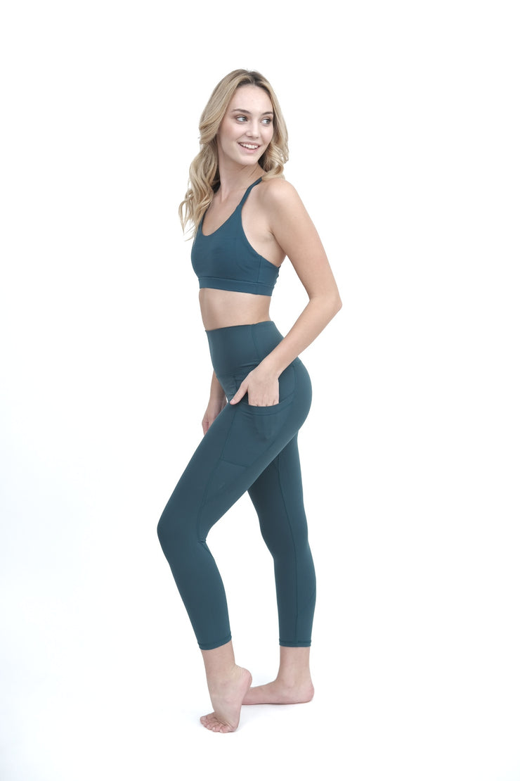 Dark Teal Yoga Bottoms