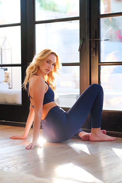 Blue Yoga Bottoms
