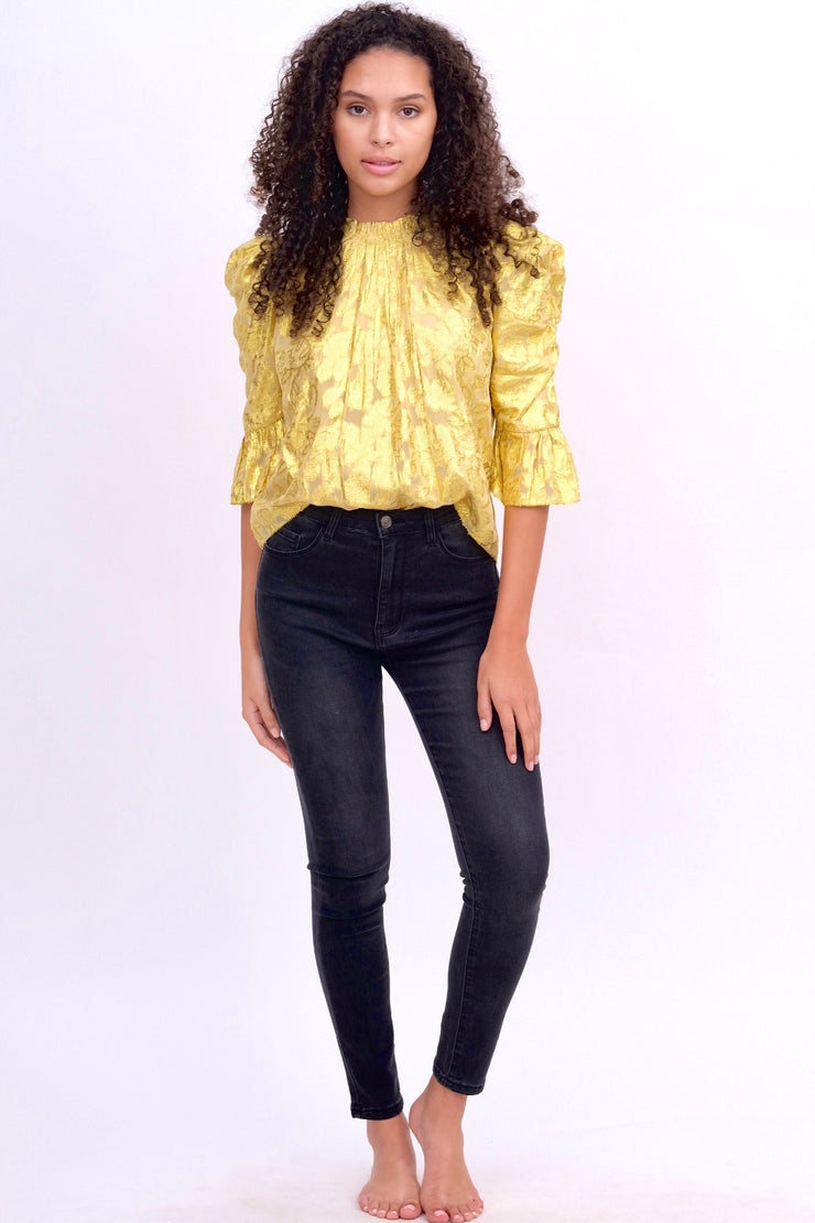 Metallic Gold Blouse