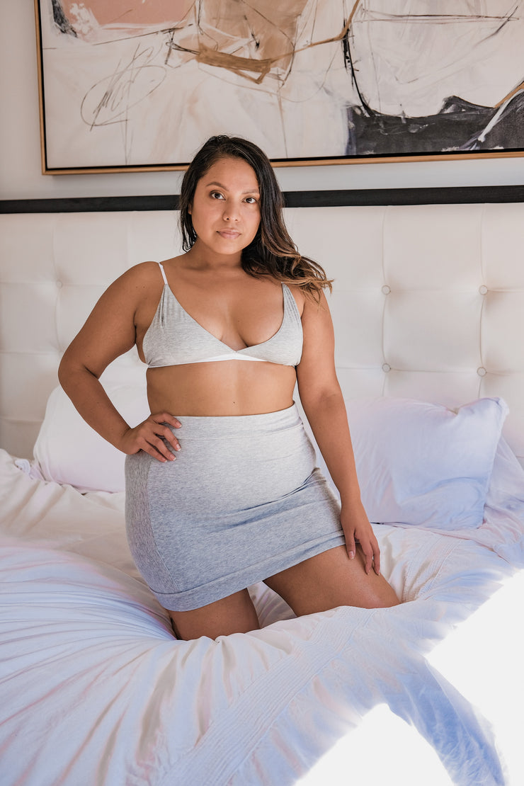 Heather Grey Mini Skirt