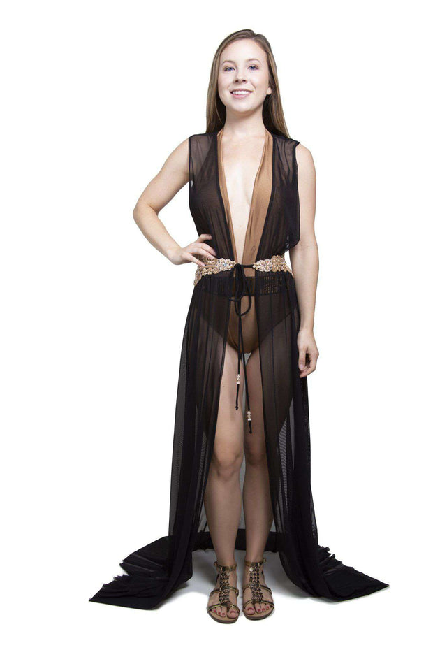 Long Black Tunic Robe