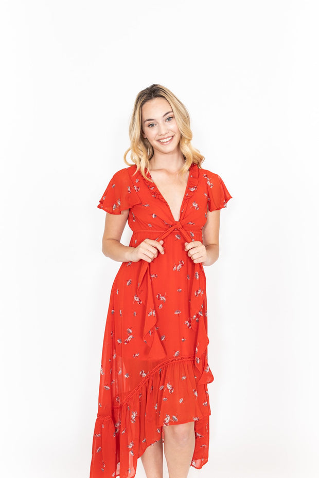 Red Floral Dress