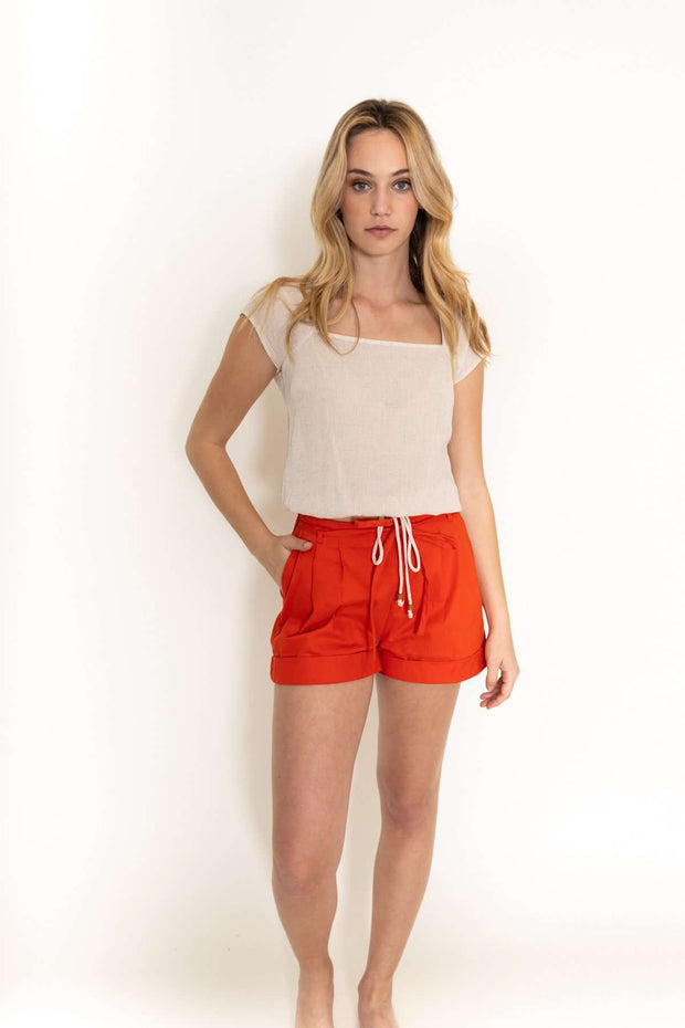 Red Short Shorts
