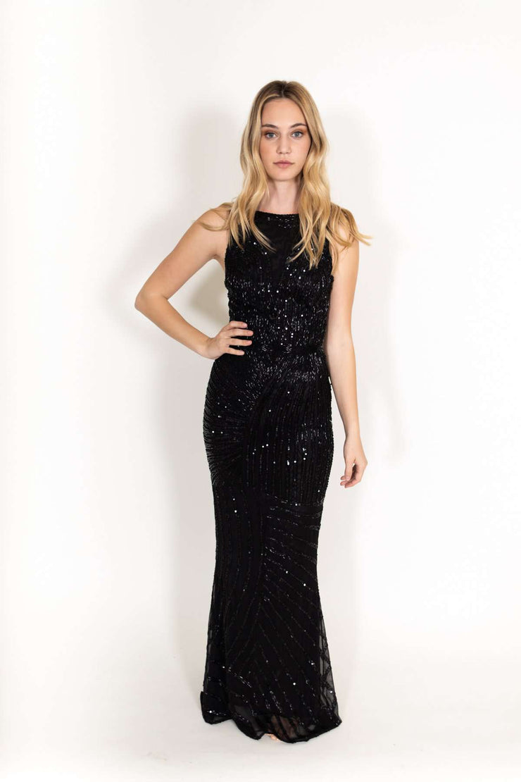 Lucia Pi Long Sequin Dress