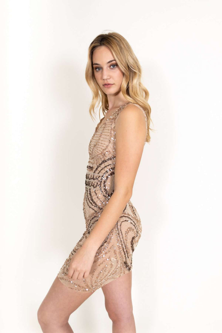 Sparkle Beige Dress