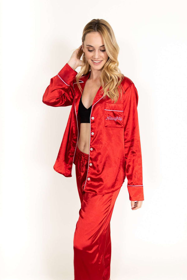 Naughty Red Pajama Set