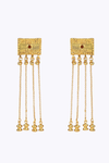 Terracotta and Gold Qumran Earrings