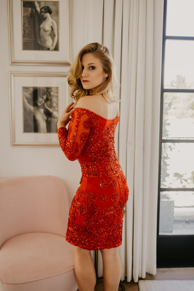 Red Sequin Dress