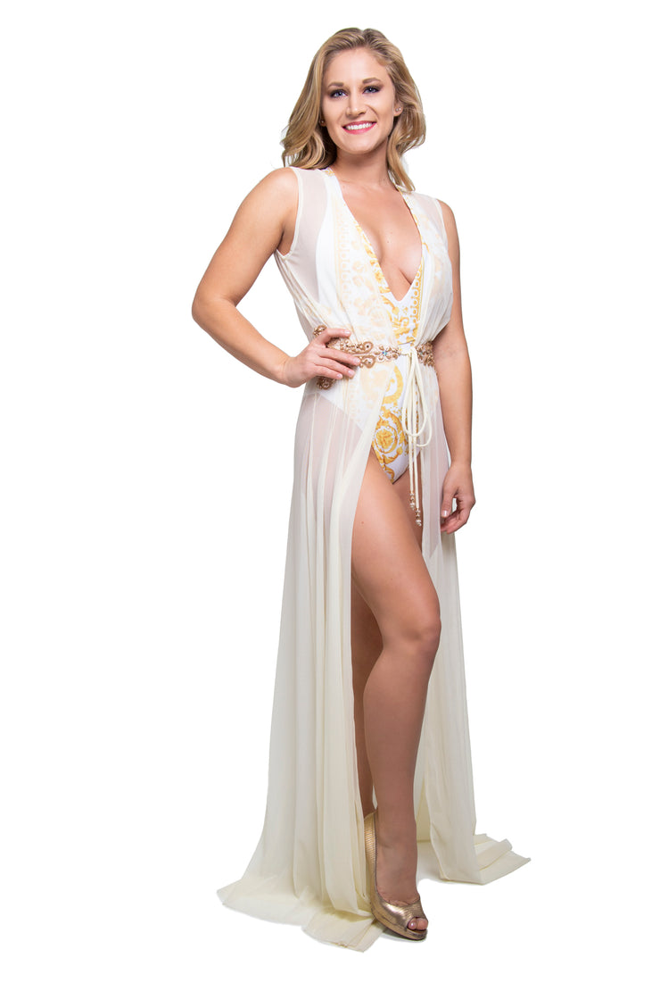 Long Coverup Robes Ivory