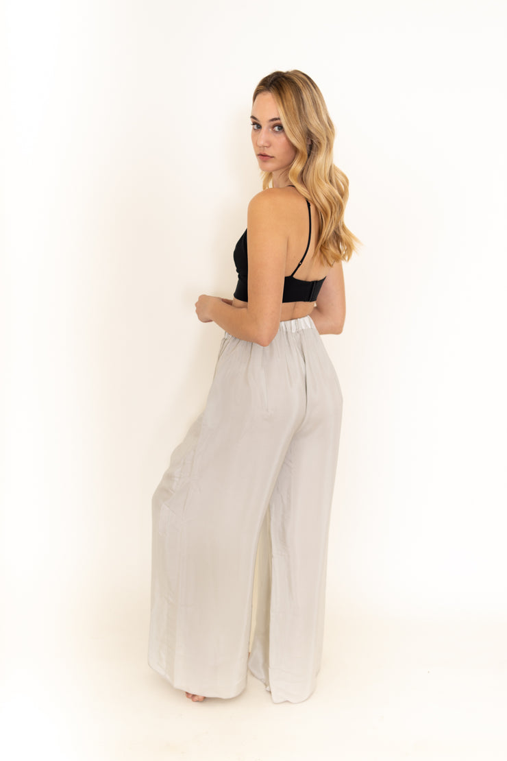 Grey Silk Pants