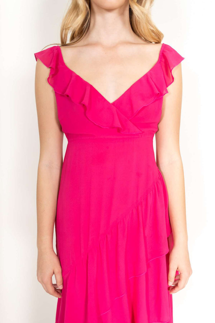 Samba Maxi Dress Fuchsia